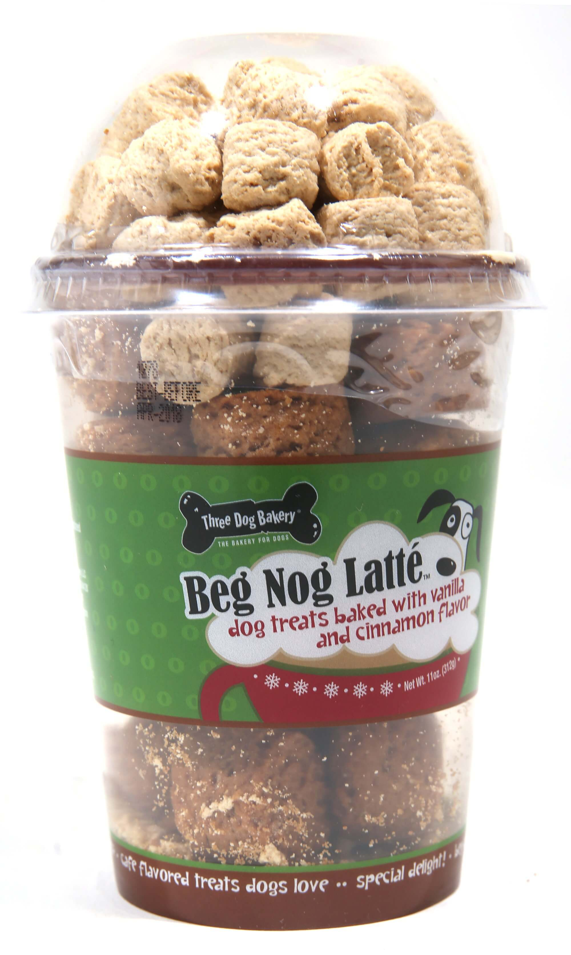 Beg nog latte dog treats