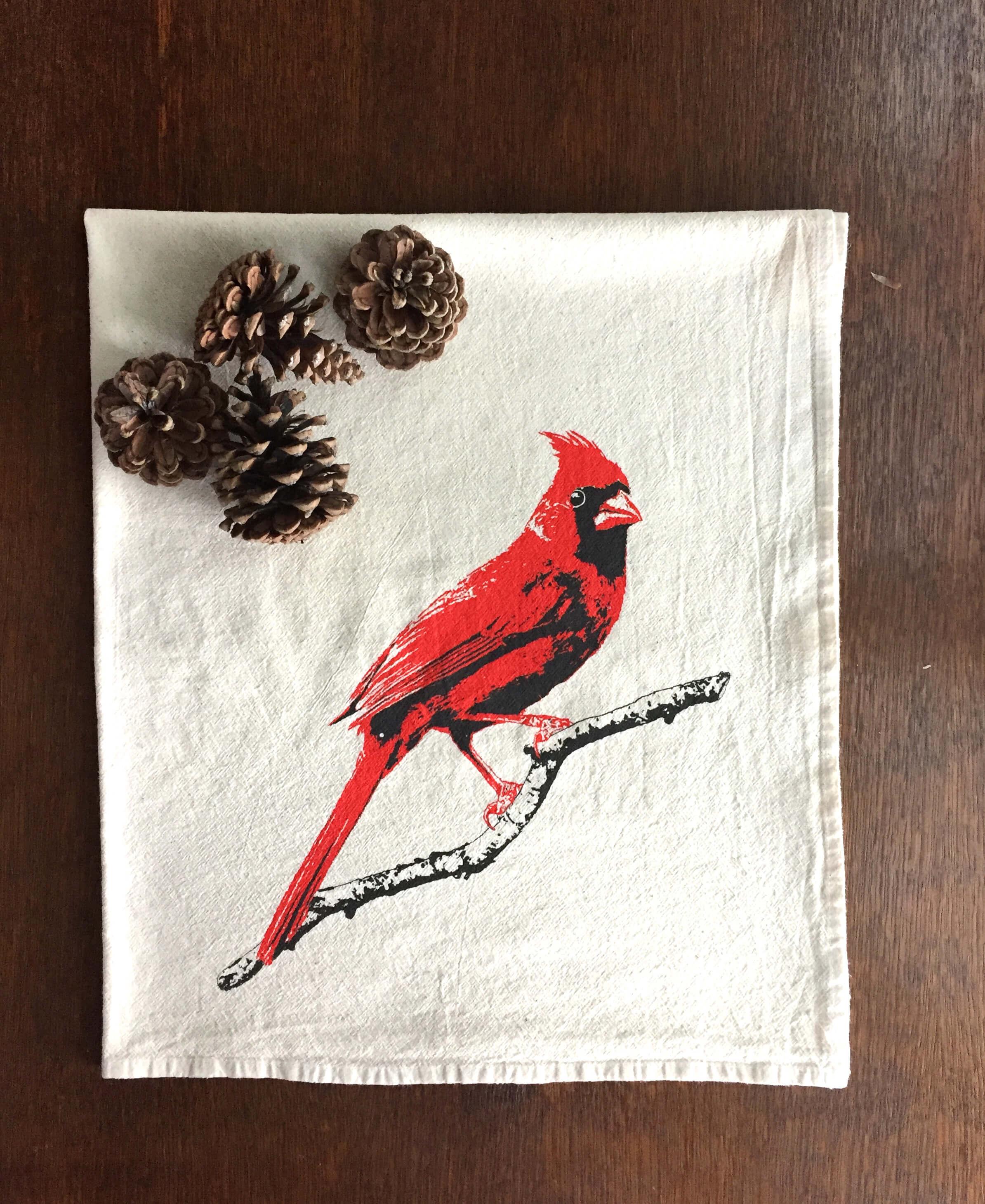 Cardinal flour sack towel