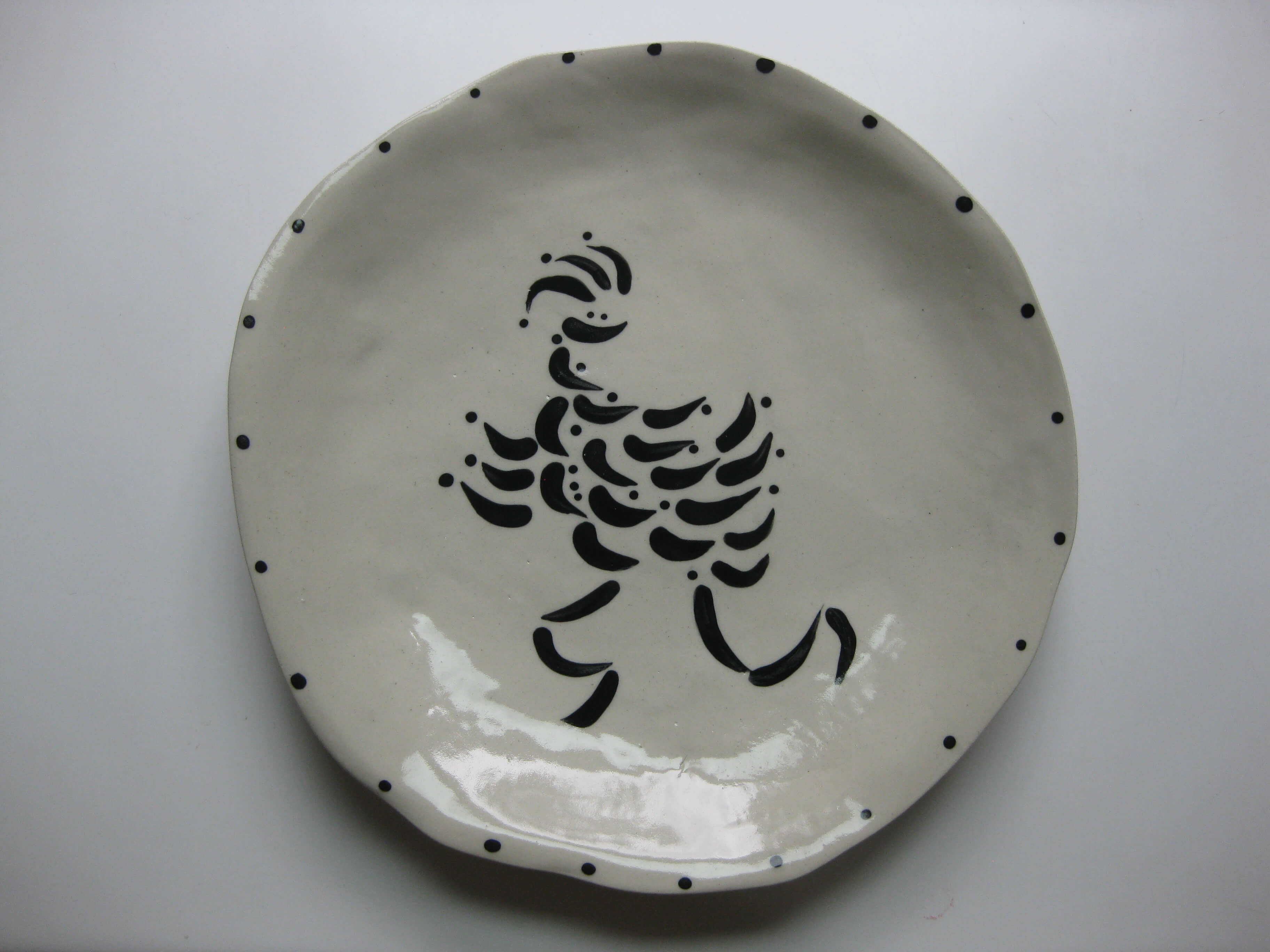 Crazy Chicks dinner plate