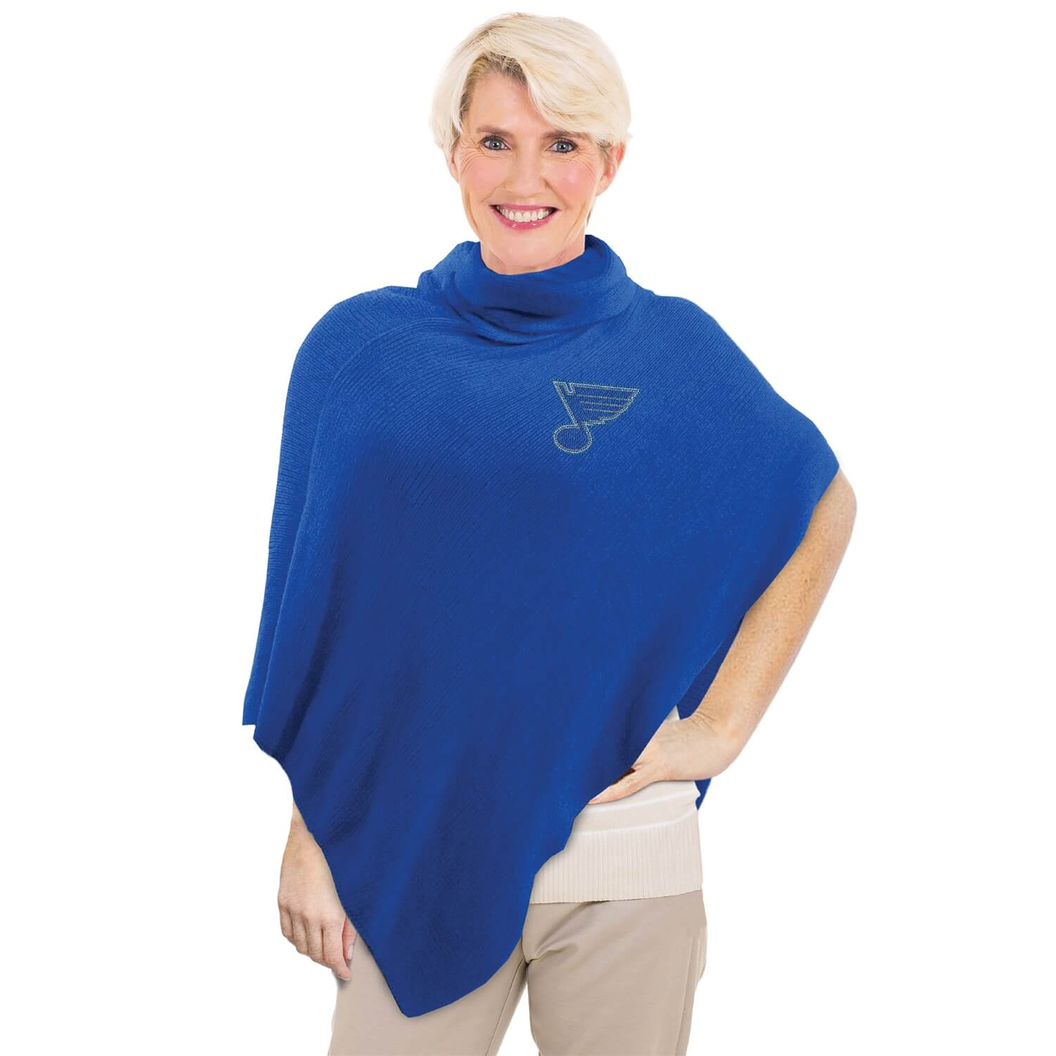 Image of Crystal Knit Blues Poncho