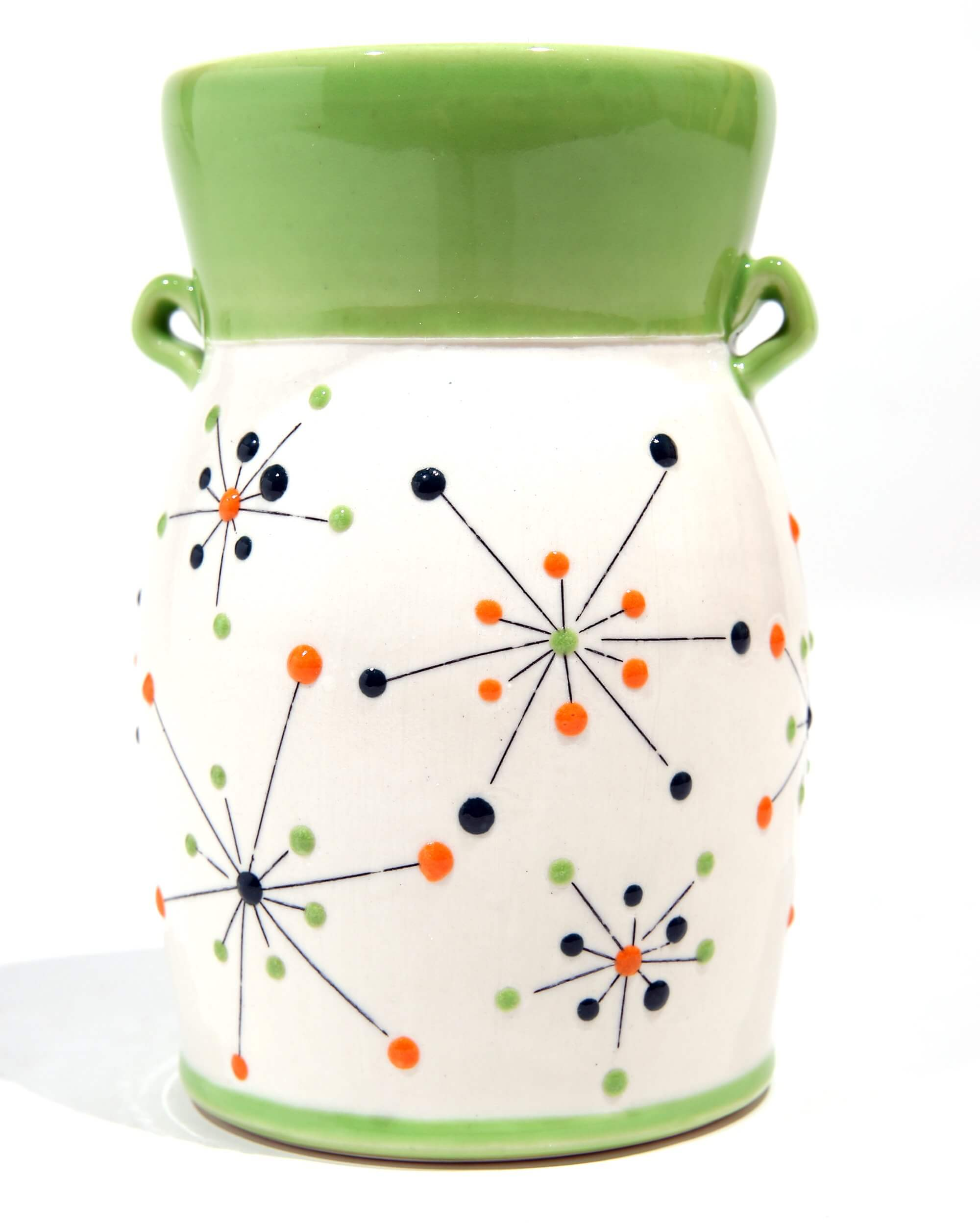 Green starburst vase