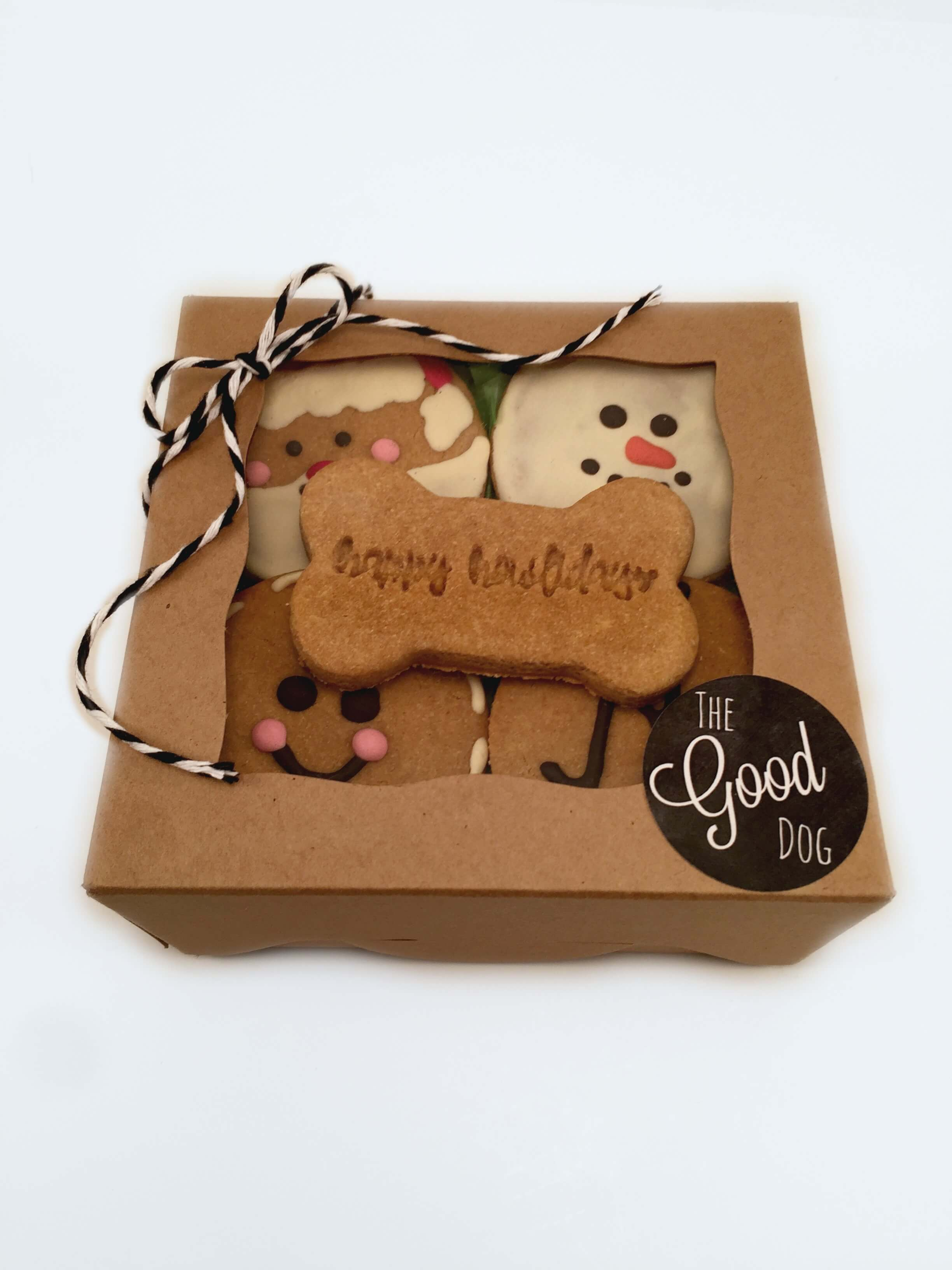 Holiday dog treat box