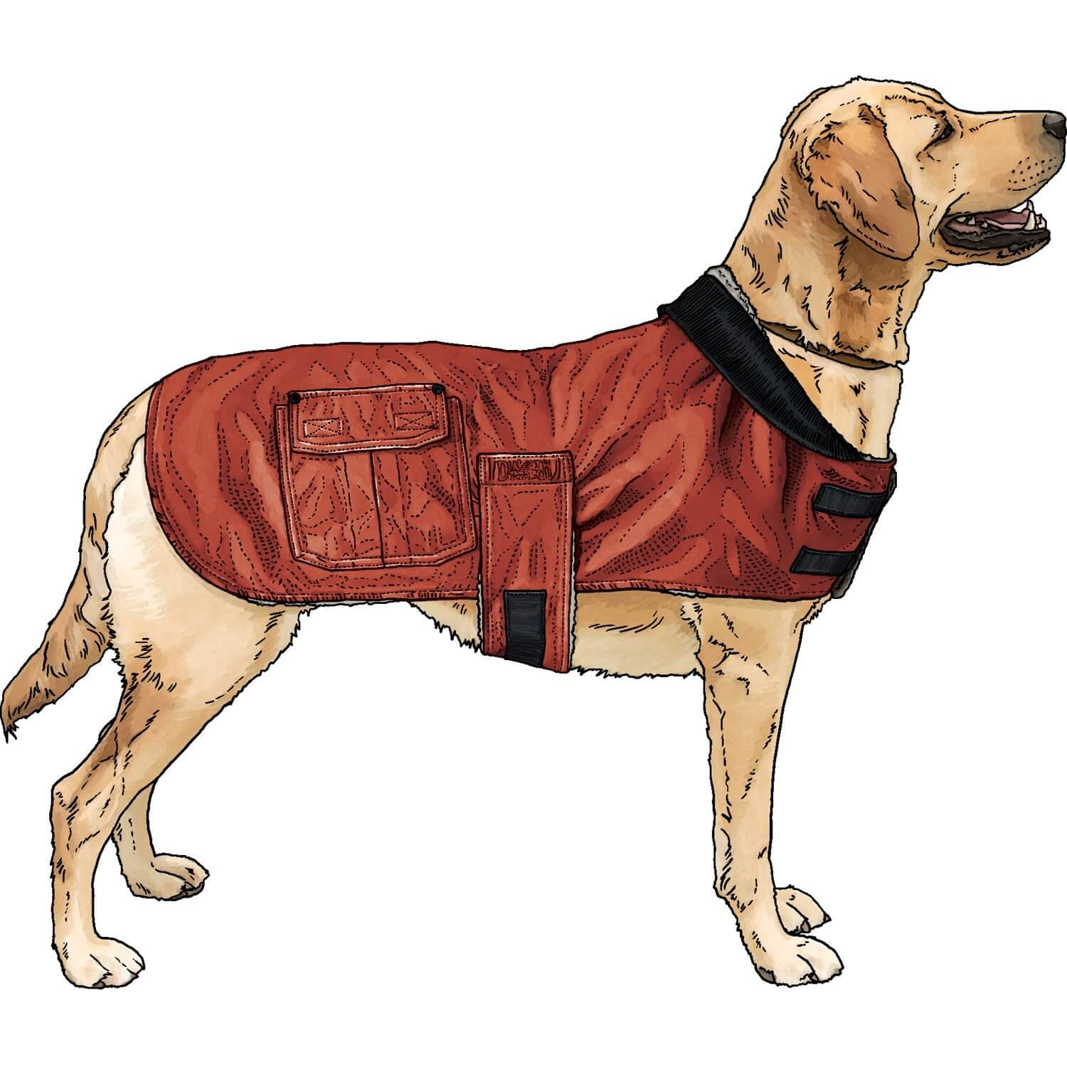 Image of Iron Range Fire Hose Dog Jacket