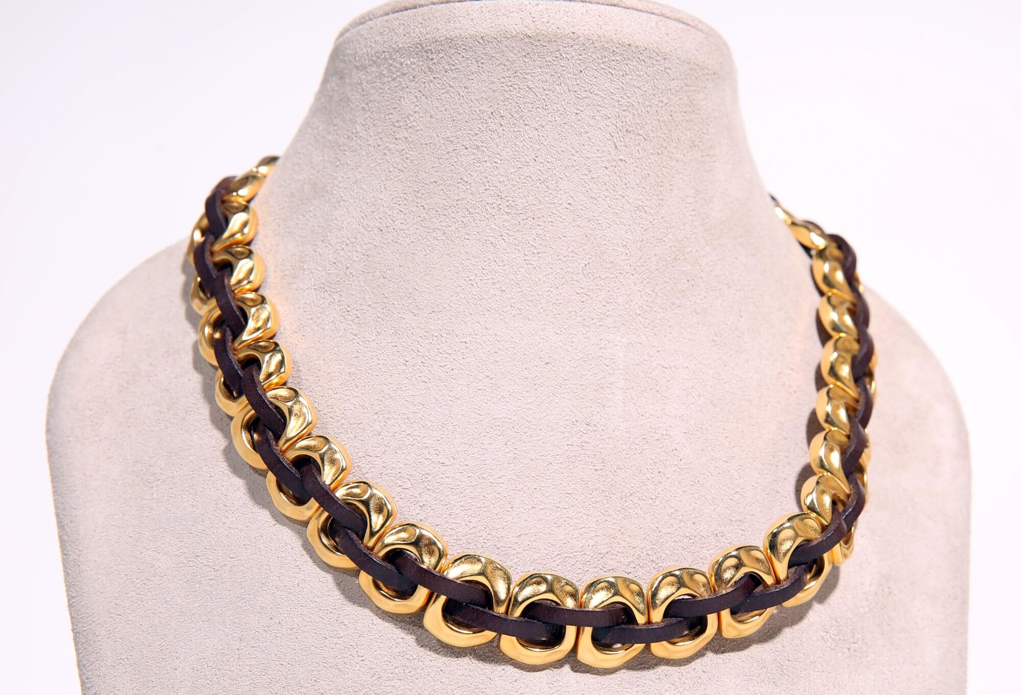 Leather and Brass necklace
