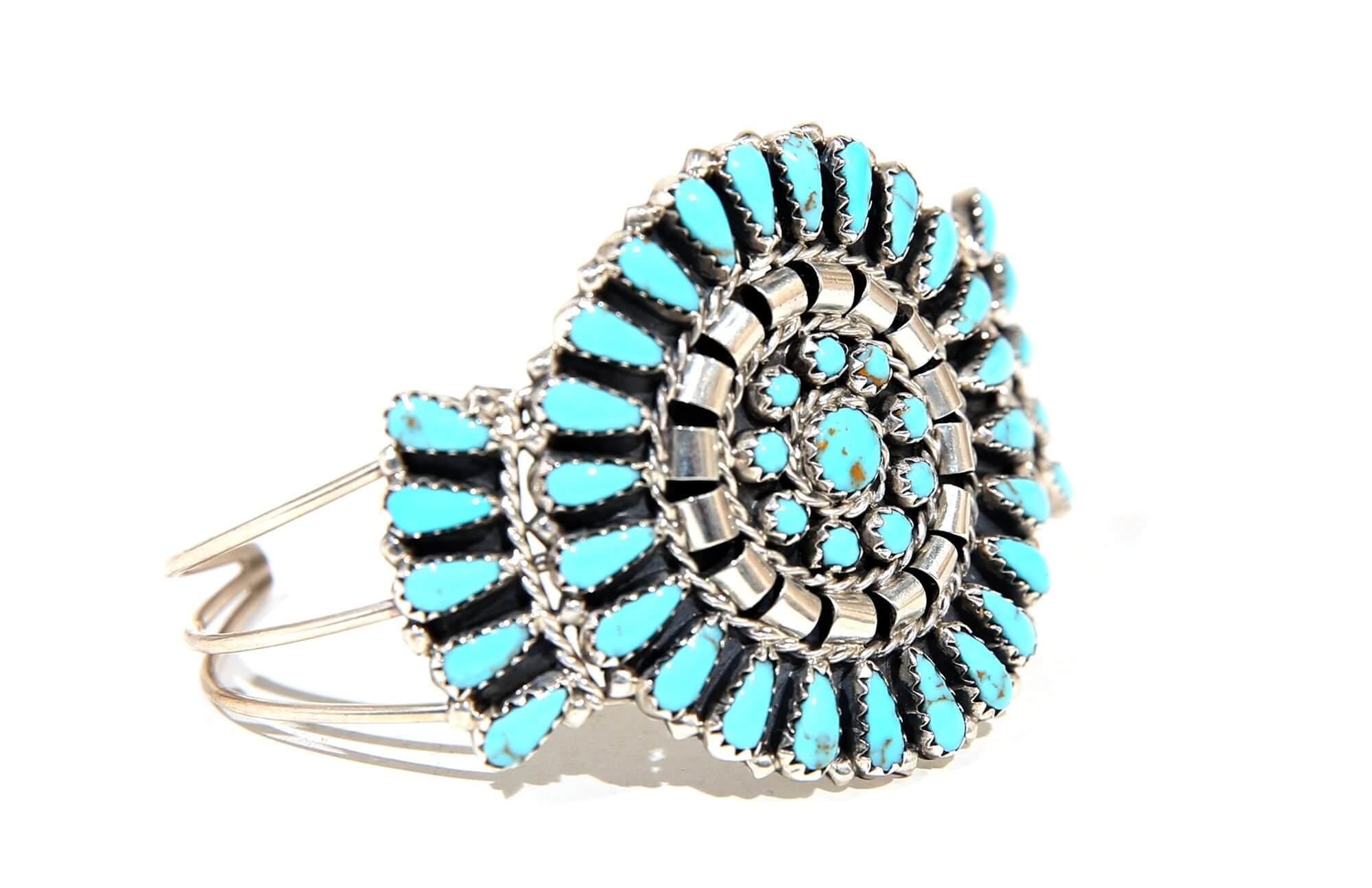 Image of Native American turquoise bangle