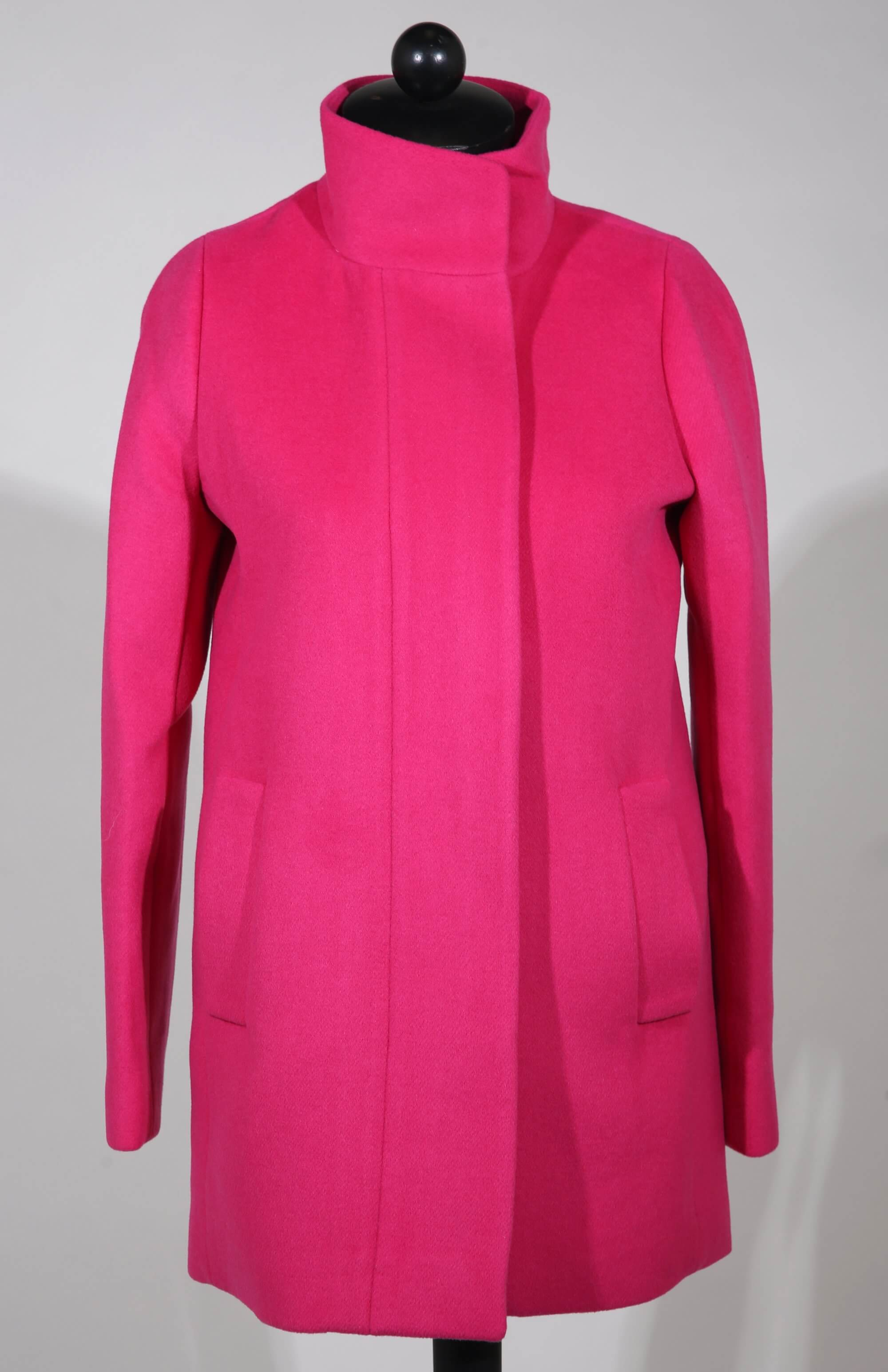 Hot pink wool coat