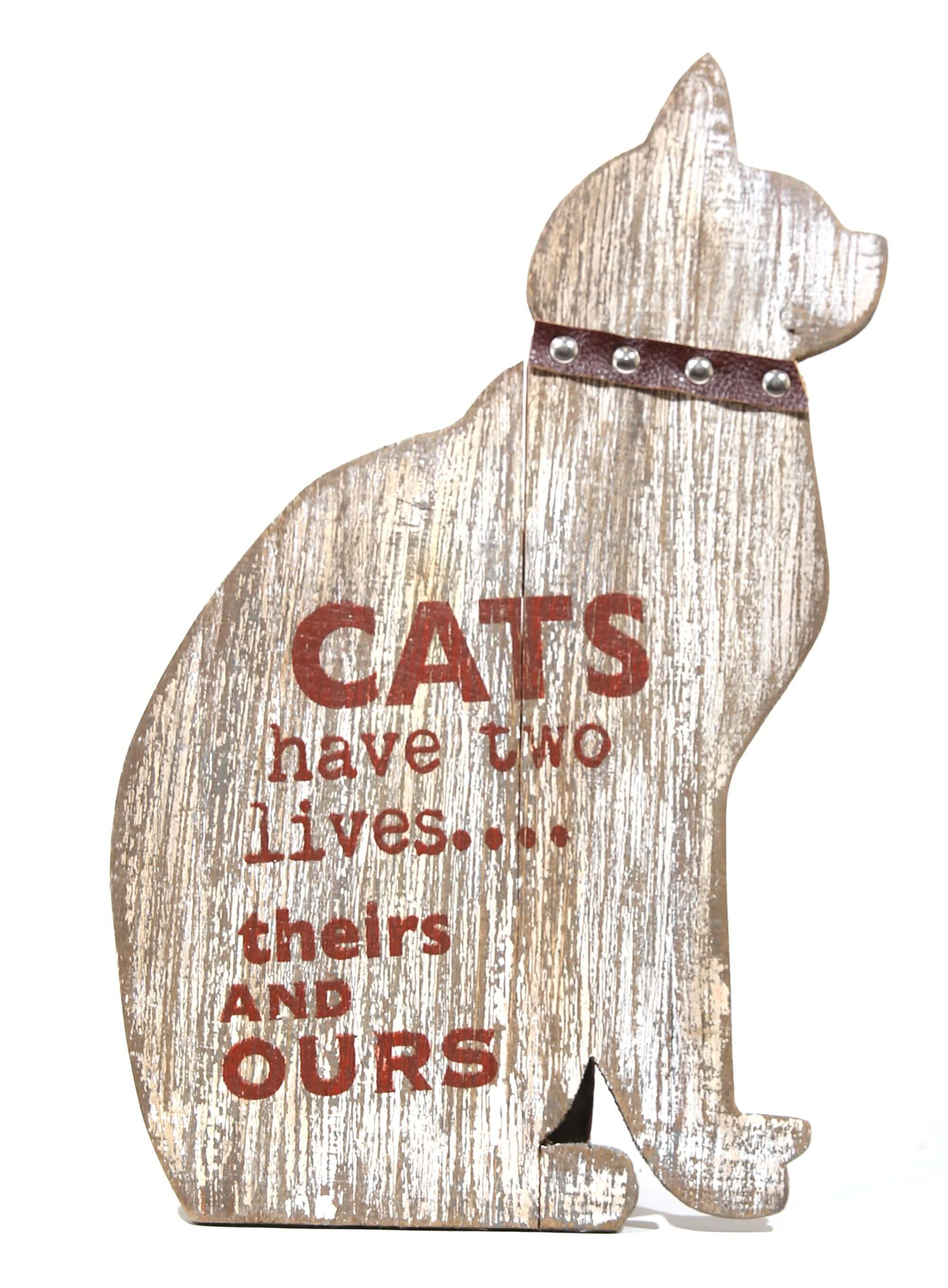 Rustic cat sign