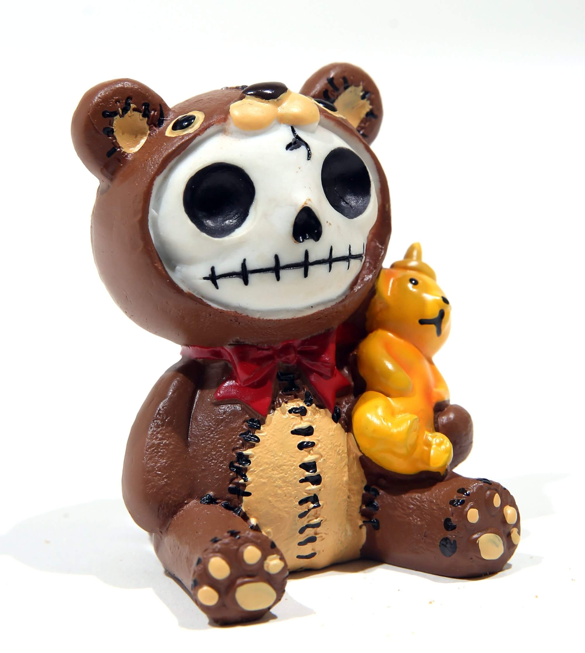 Furrybones bear skeleton figurine