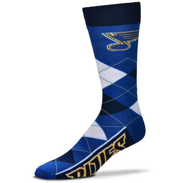 St. Louis Blues For Bare Feet Argyle Crew Socks