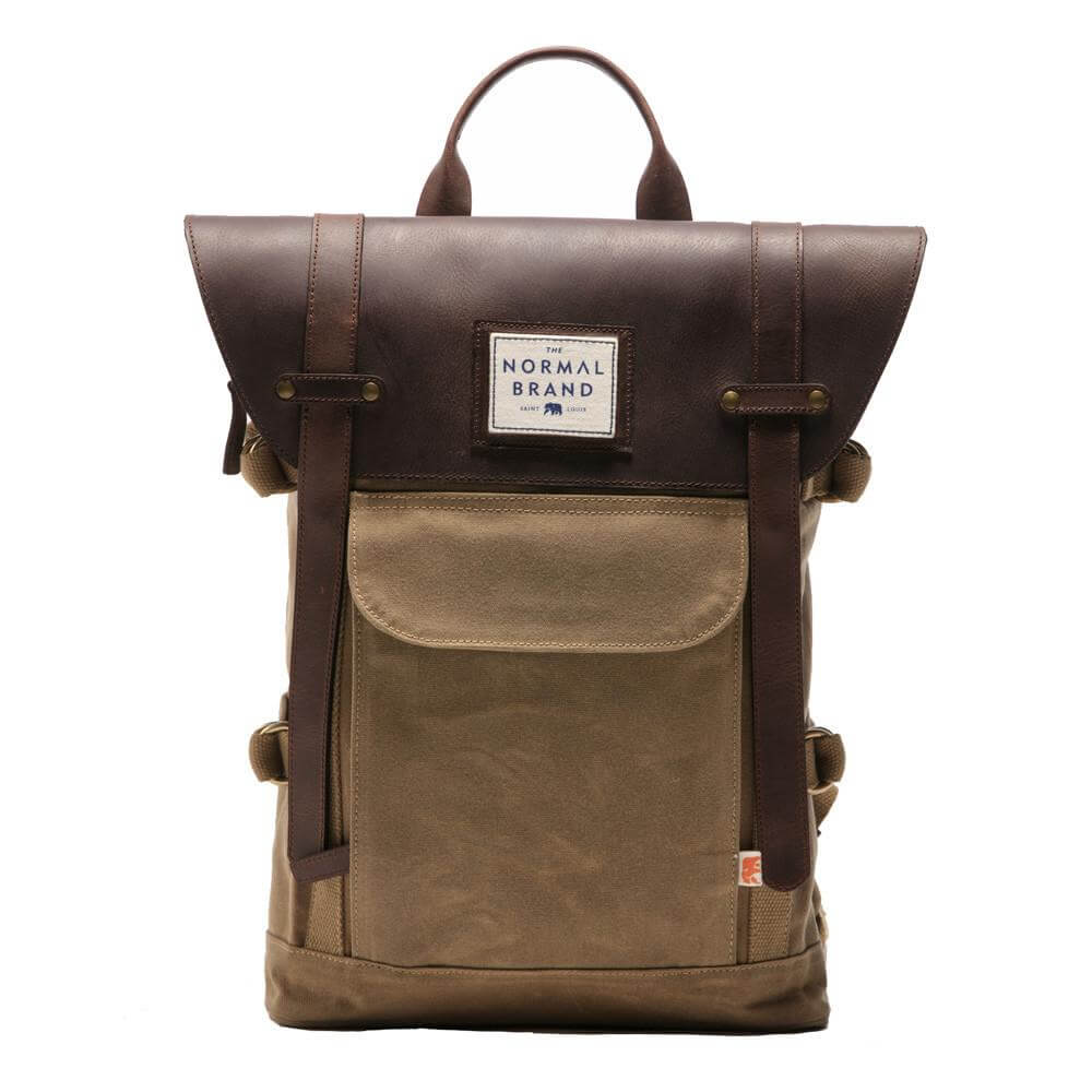 Image of The Normal Brand Top Side Leather Backpack